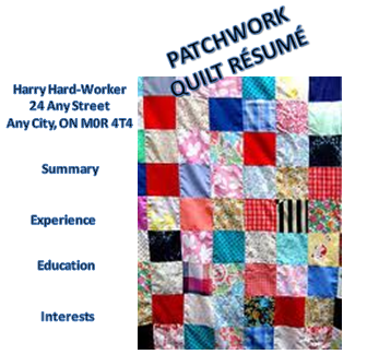How a Patchwork Quilt Résumé Could Damage Your Brand | Career Musings : the patchwork quilt summary - Adamdwight.com