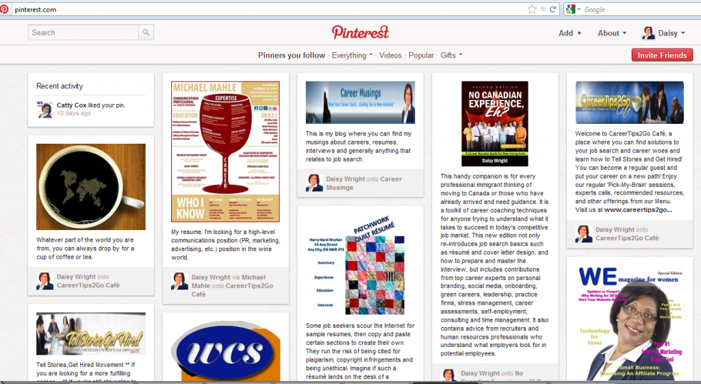 Pinterest Mine 1024x561 Whats all the Hype about Pinterest?