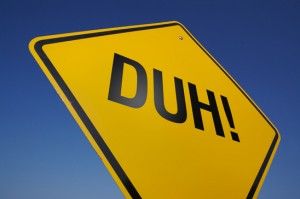 photodune 297984 yellow duh road sign xs 300x199 It is a Dumb Idea to Dumb Down Your Resume