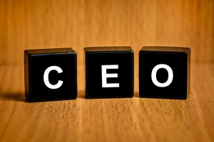CEO or chief executive officer text on black block